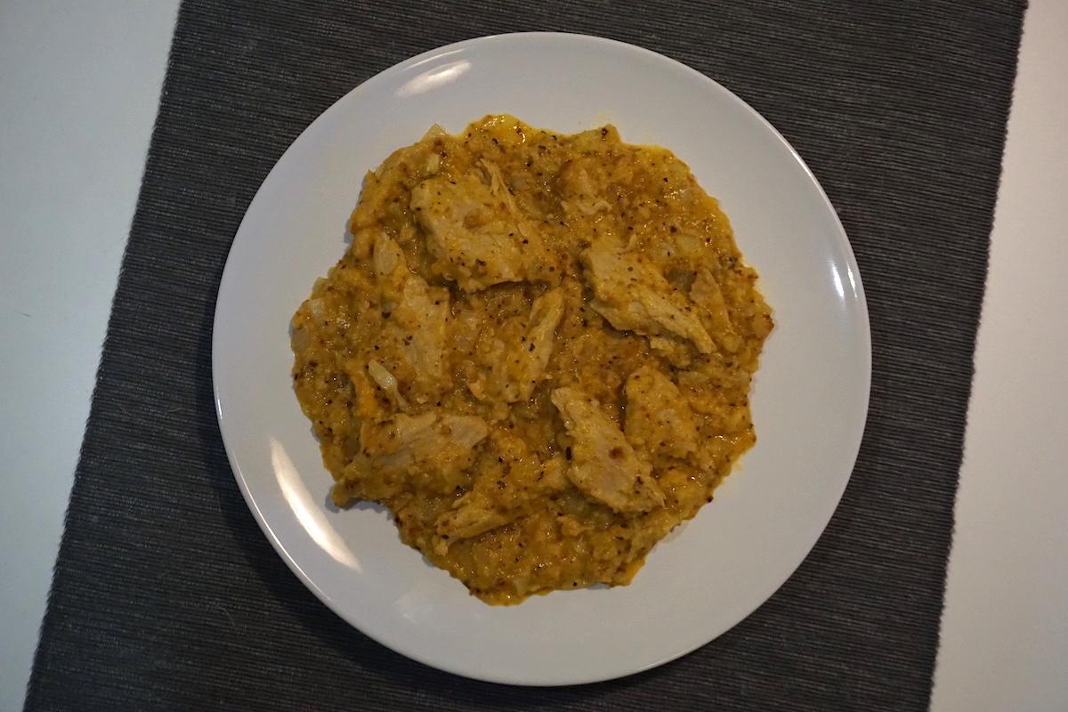Heura con salsa de naranja