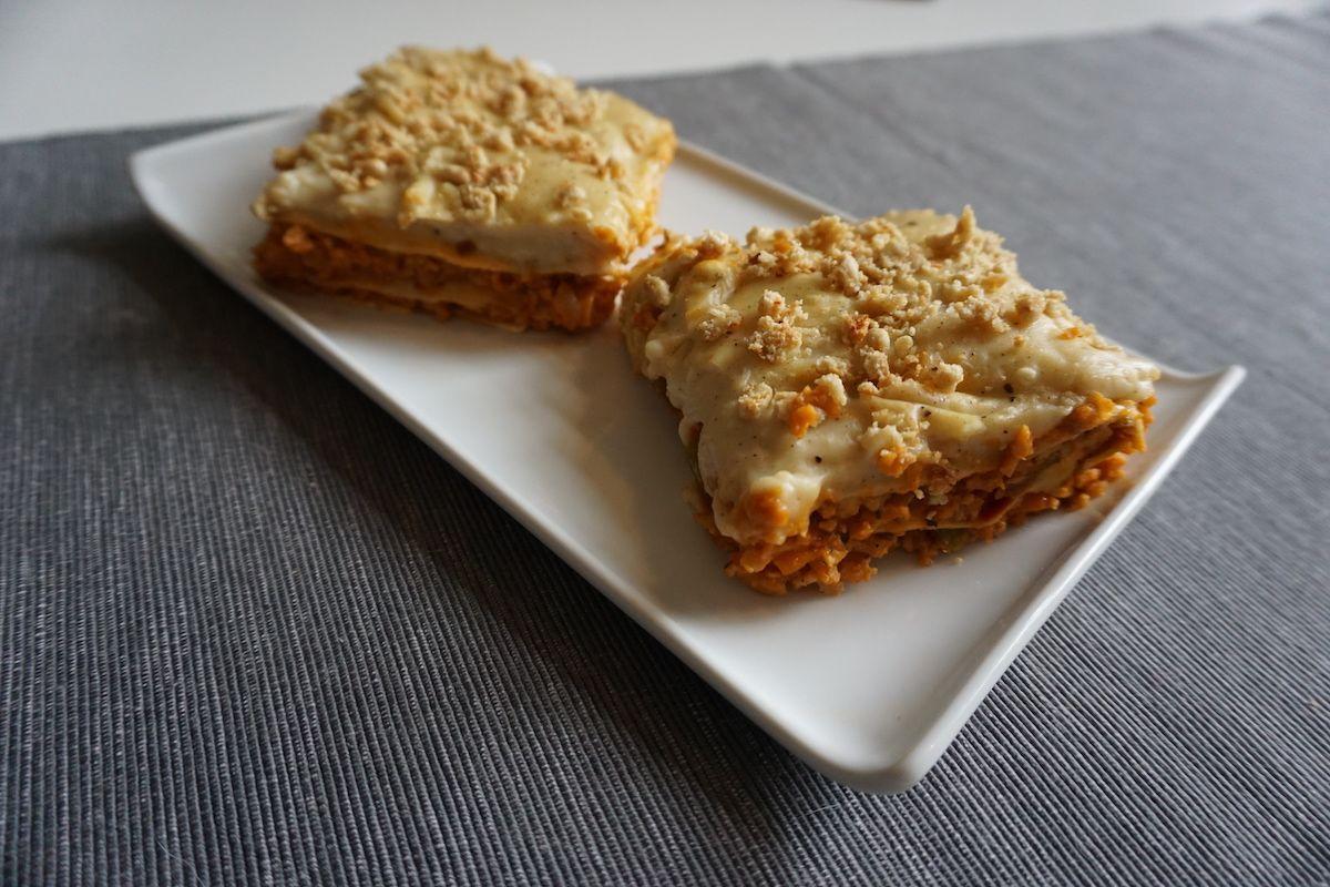lasana vegana de soja texturizada