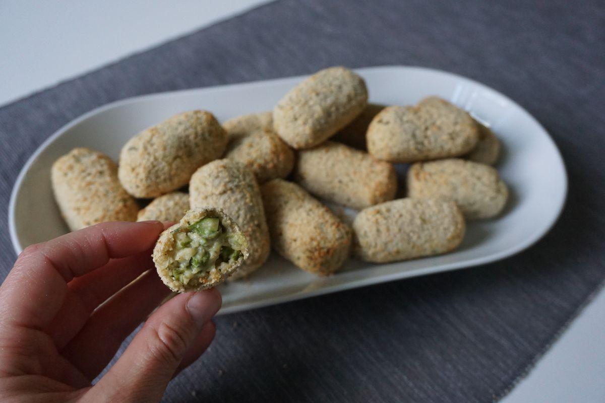 Croquetas veganas de espárragos y puerro sin gluten