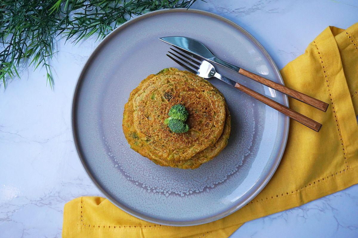 Tortitas veganas de brócoli