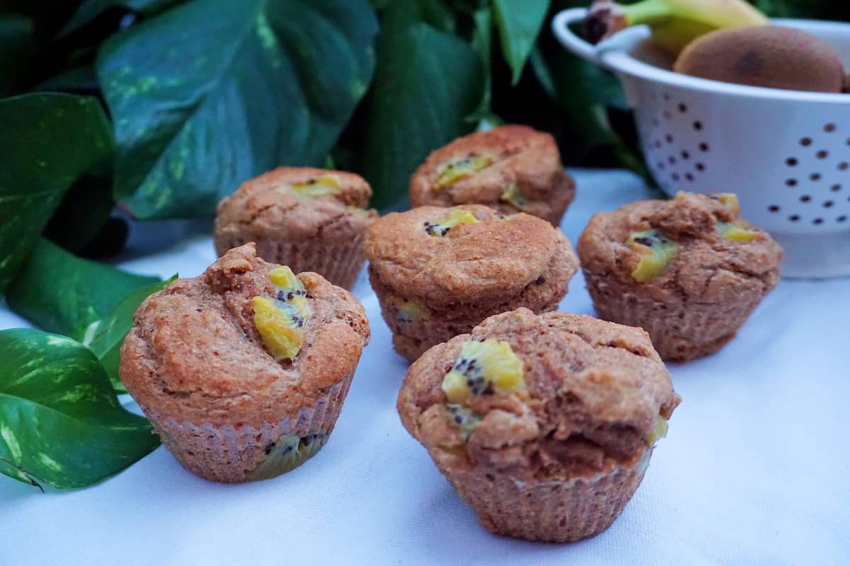 Muffins veganos de kiwi