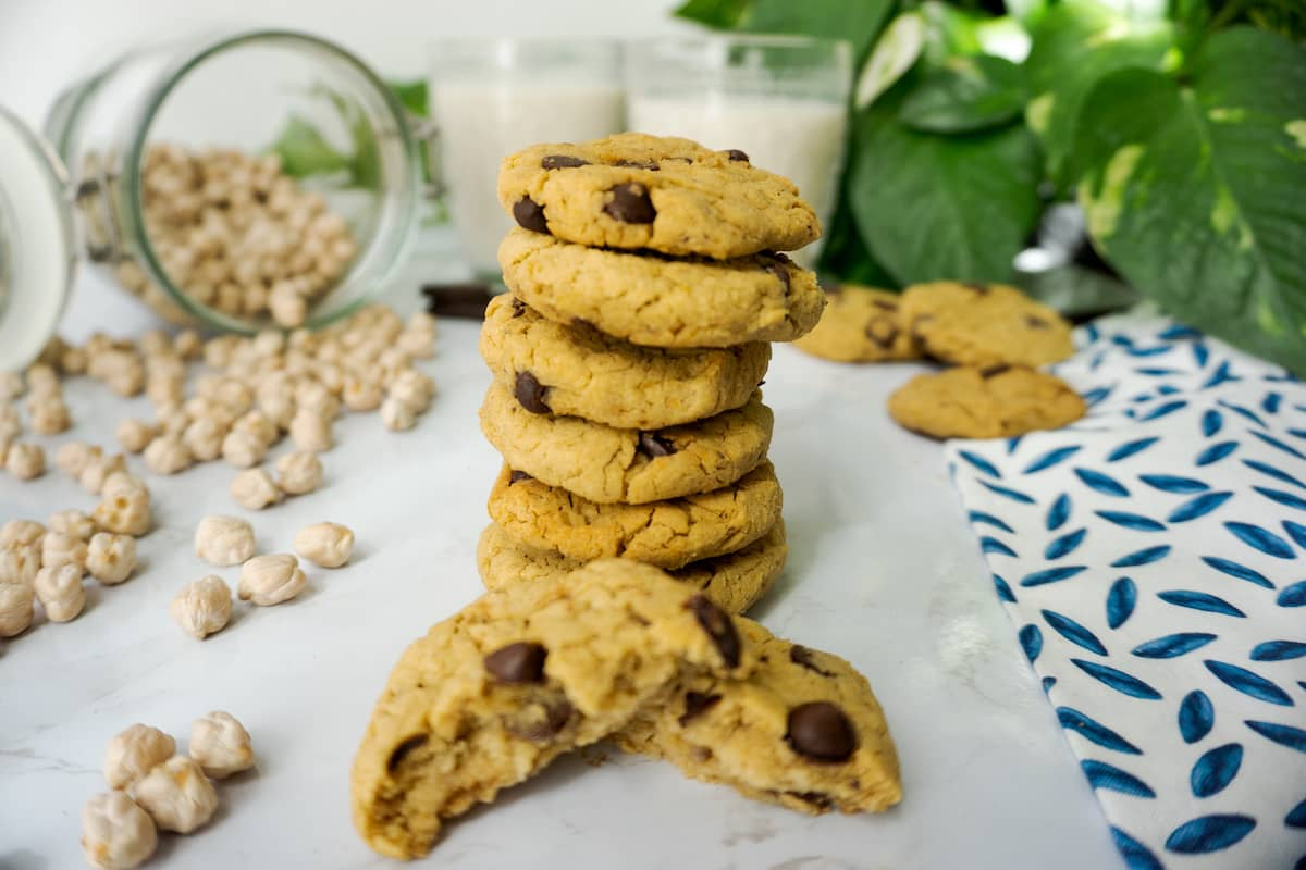 Cookies veganas de garbanzos