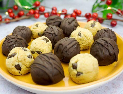 Trufas veganas cookie dough