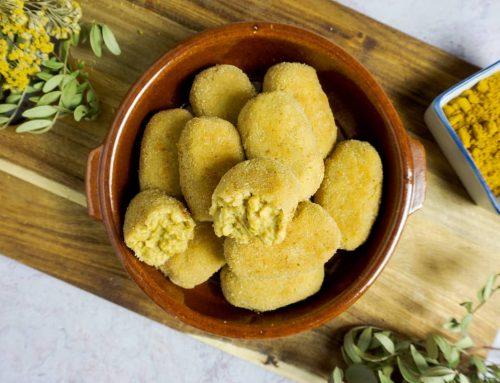 Croquetas de no-pollo al curry veganas